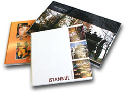 Developed photo albums on photopaper